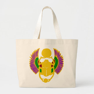 winged scarab beetle Egyptian design abstract Bags