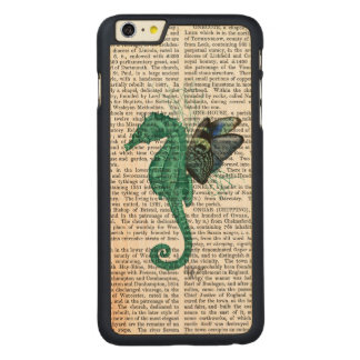 Winged Seahorse Carved Maple iPhone 6 Plus Case