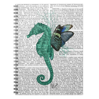 Winged Seahorse Spiral Notebook