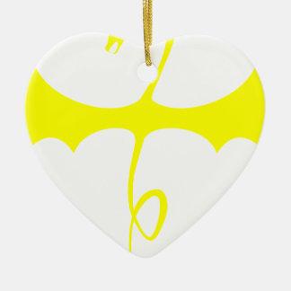 Winged Serpent Ceramic Heart Decoration