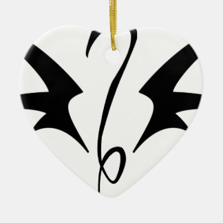 Winged Serpent Ceramic Heart Decoration