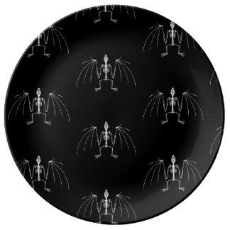 Winged Skeleton Plate Porcelain Plates
