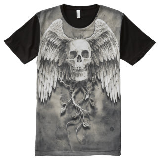 Winged Skull All-Over Print T-Shirt