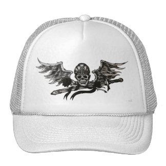 Winged skull cap
