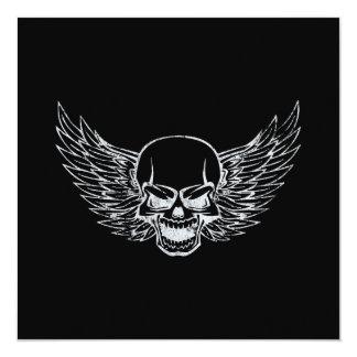 Winged Skull Card