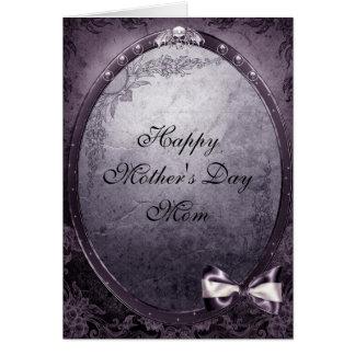 Winged Skull Elegant Vintage Gothic Mother's Day Card