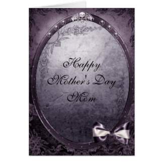 Winged Skull Elegant Vintage Gothic Mother's Day Greeting Card