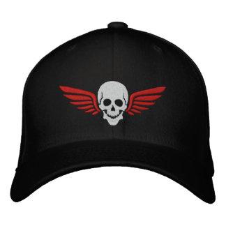 Winged Skull Embroidered Baseball Caps