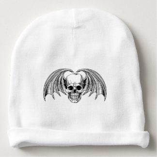 Winged Skull Grim Reaper Baby Beanie