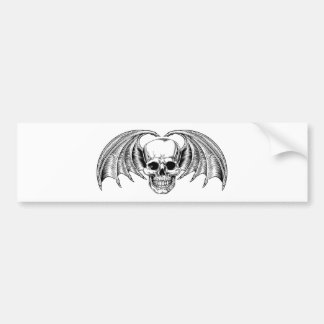 Winged Skull Grim Reaper Bumper Sticker