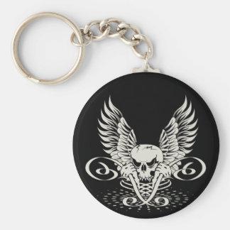 Winged Skull Key Ring
