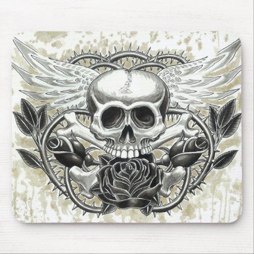 Winged Skull Mousepad