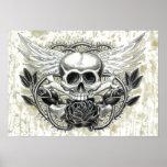 Winged Skull Print