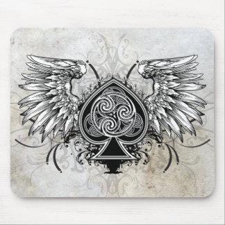 Winged Tattoo Urban Celtic Gaelic Knot Mousepad
