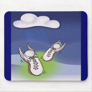 Winged Tennis Shoes Mouse Pads