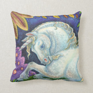 Winged Unicorn Flying Horse Fantasy THROW PILLOW