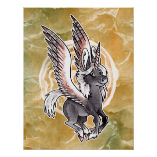 Winged Unicorn Poster