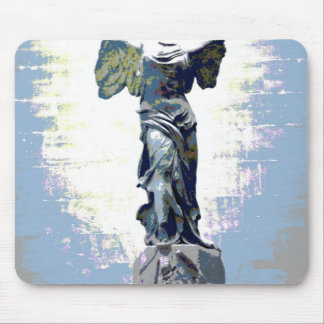 Winged Victory angel Speak (Blue) Mouse Pad