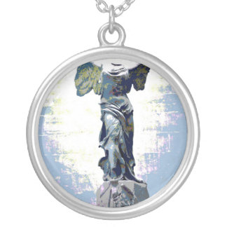 Winged Victory angel Speak (Blue) Necklaces