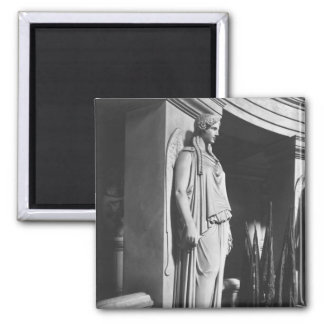 Winged victory square magnet