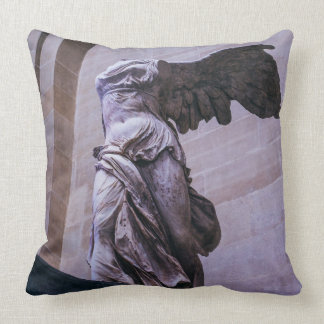 Winged Victory Of Samothrace, Louvre, Paris Throw Pillow