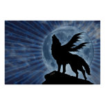 Winged Wolf Poster