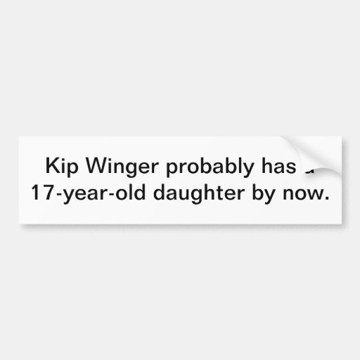 Winger! Bumper Sticker