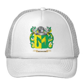Winger Family Crest (Coat of Arms) Mesh Hats