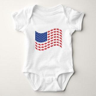 winger-flag-wave baby bodysuit