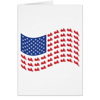 winger-flag-wave greeting card