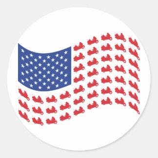 winger-flag-wave round sticker
