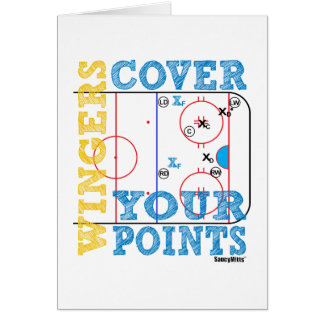 Wingers Cover Your Points Greeting Card
