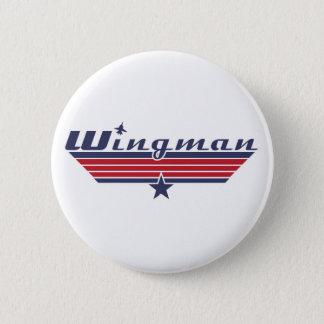 Wingman 6 Cm Round Badge