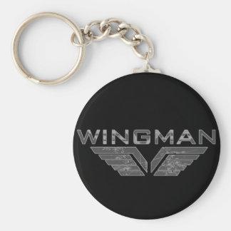 Wingman Basic Round Button Key Ring