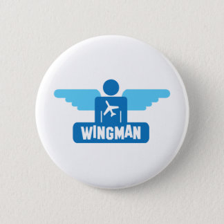 wingman pilot design 6 cm round badge