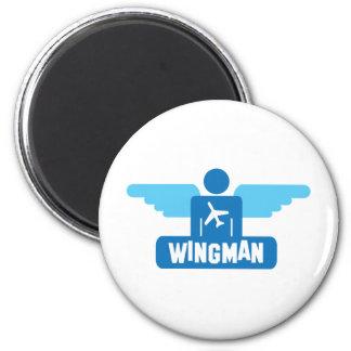 wingman pilot design 6 cm round magnet
