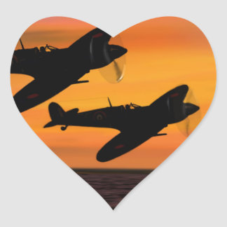 WINGMAN. HEART STICKER