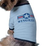 Wingman Vintage Ringer Dog Shirt