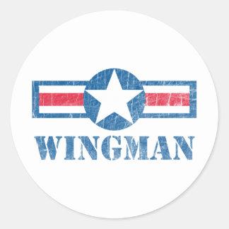 Wingman Vintage Round Sticker