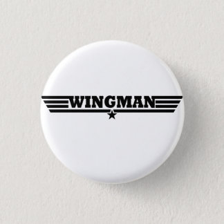 Wingman Wings Logo 3 Cm Round Badge
