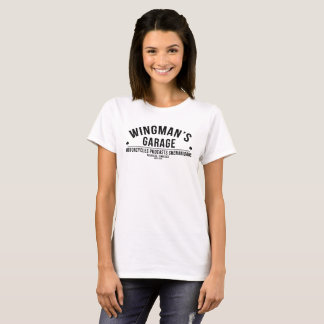 "Wingman's Garage ""Classic Moto"" Ladies Tee (White)"