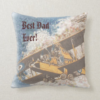 Wings Aloft Father's Day throw pillow