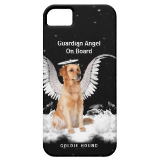 Wings and a Halo on a Cute Golden Retriever Dog iPhone 5 Cases