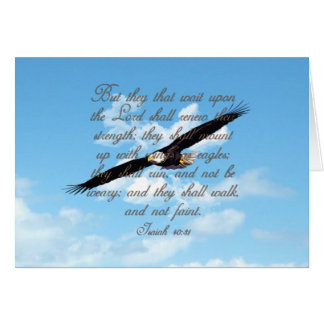 Wings as Eagles Isaiah 40 31 Christian Bible Greeting Card