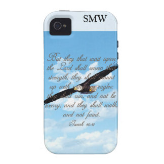 Wings as Eagles Isaiah 40 31 Christian Bible iPhone 4/4S Case