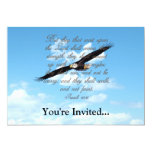 """Wings as Eagles, Isaiah 40:31 Christian Bible 5"""" X 7"""" Invitation Card"""