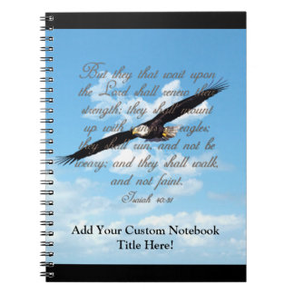Wings as Eagles Isaiah 40 31 Christian Bible Note Book