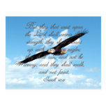 Wings as Eagles, Isaiah 40:31 Christian Bible Post Card
