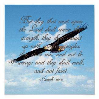 Wings as Eagles Isaiah 40 31 Christian Bible Print