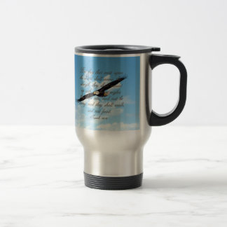 Wings as Eagles, Isaiah 40:31 Christian Bible Stainless Steel Travel Mug